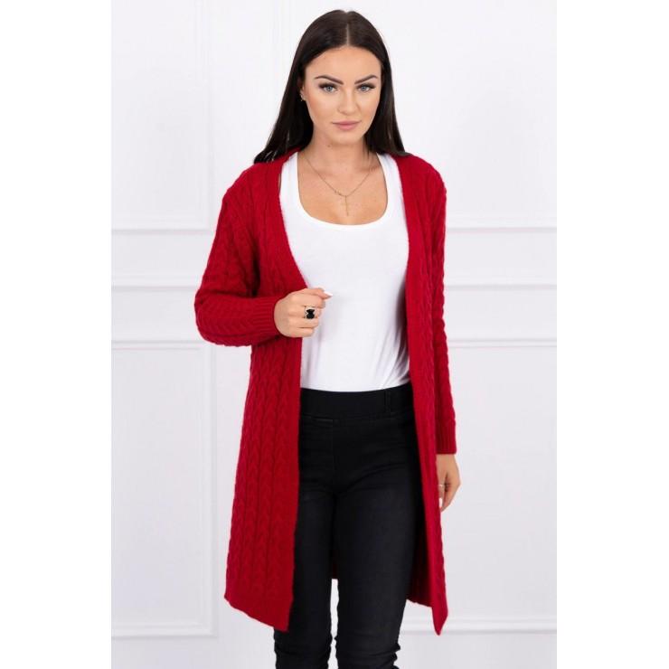 Sweater with braid pattern MI2019-14 red
