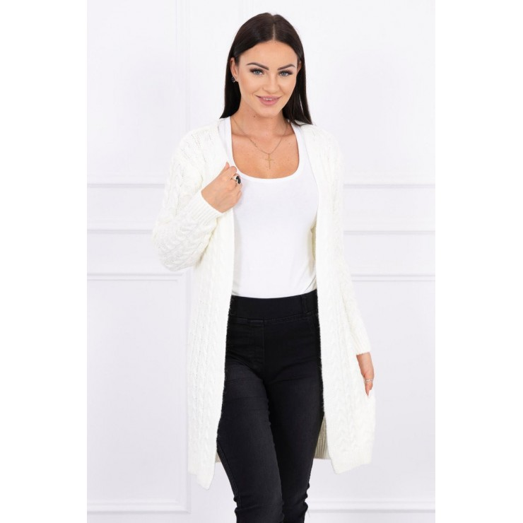 Sweater with braid pattern MI2019-14 cream