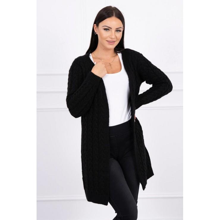 Sweater with braid pattern MI2019-14 black