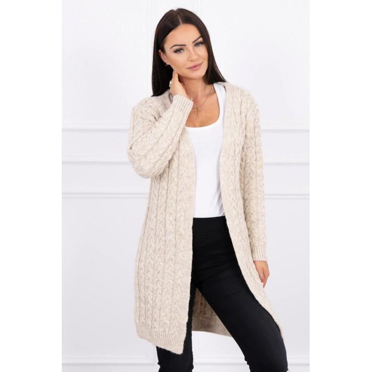 Sweater with braid pattern MI2019-14 beige