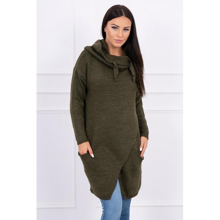 Warm sweater MI2019-6 dark green