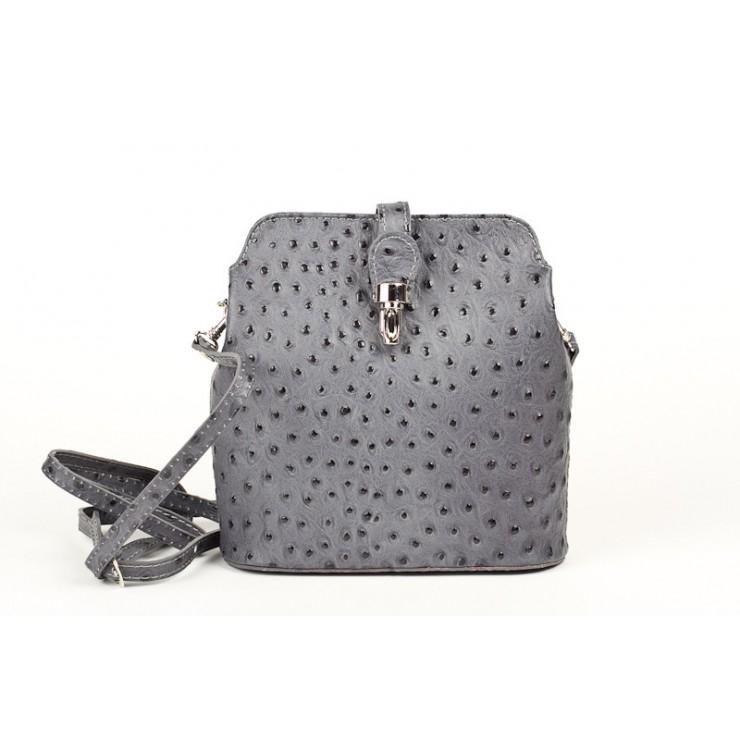 Kožená kabelka na rameno 603C tmavě šedá