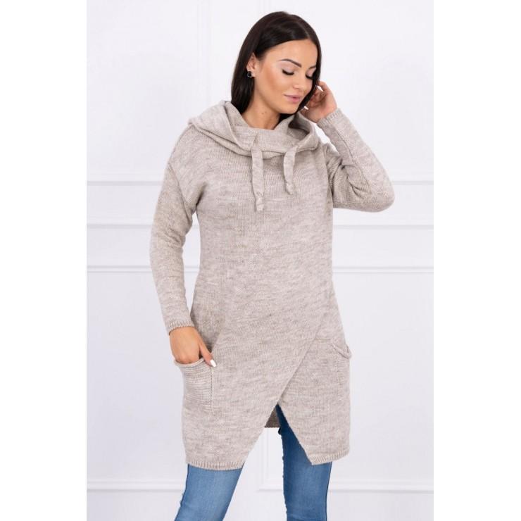 Warm sweater MI2019-6 dark beige