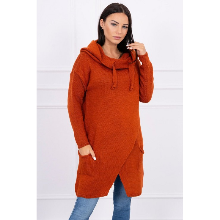 Warm sweater MI2019-6 brick
