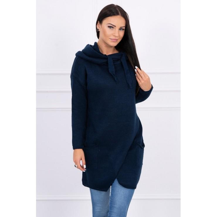 Warm sweater MI2019-6 dark blue