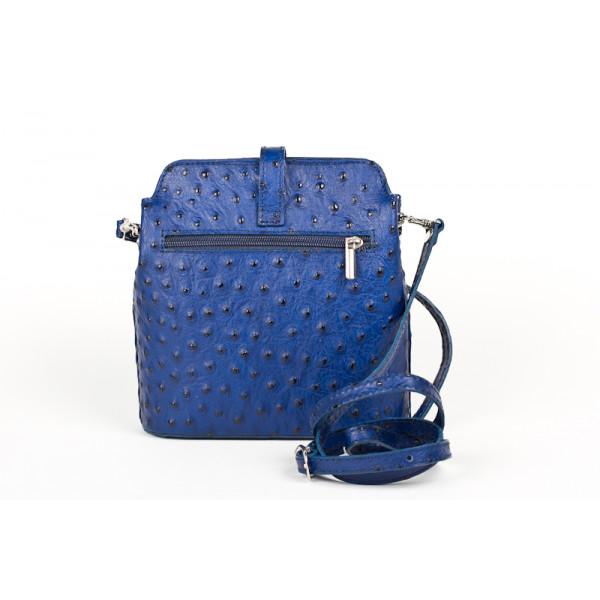 Kožená kabelka na rameno 603C azurovo modrá
