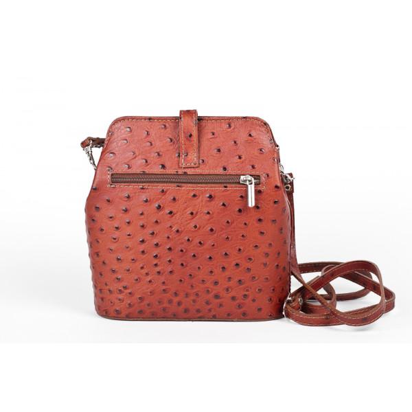 Kožená kabelka na rameno 603C hnedá