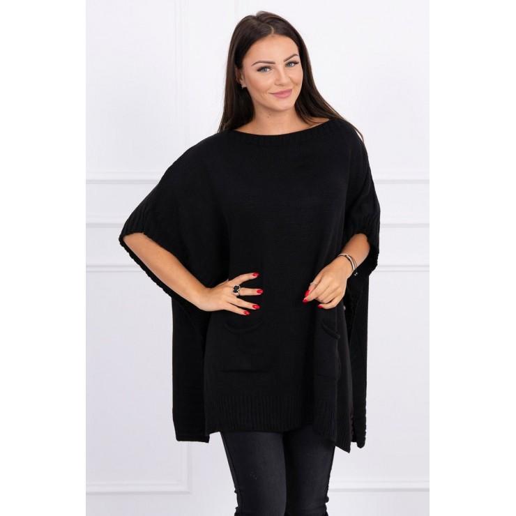 Poncho sweater MI2019-23 black