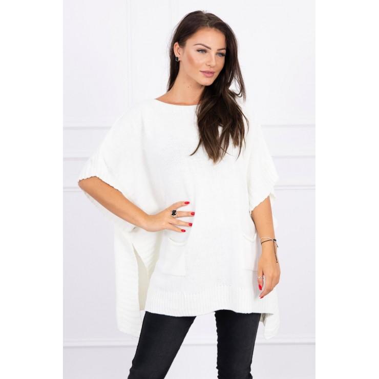 Poncho sweater MI2019-23 cream