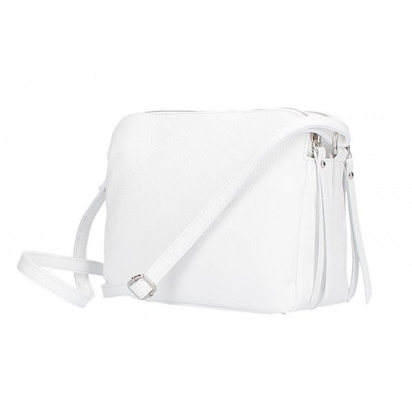 Kožená kabelka na rameno 517 biela