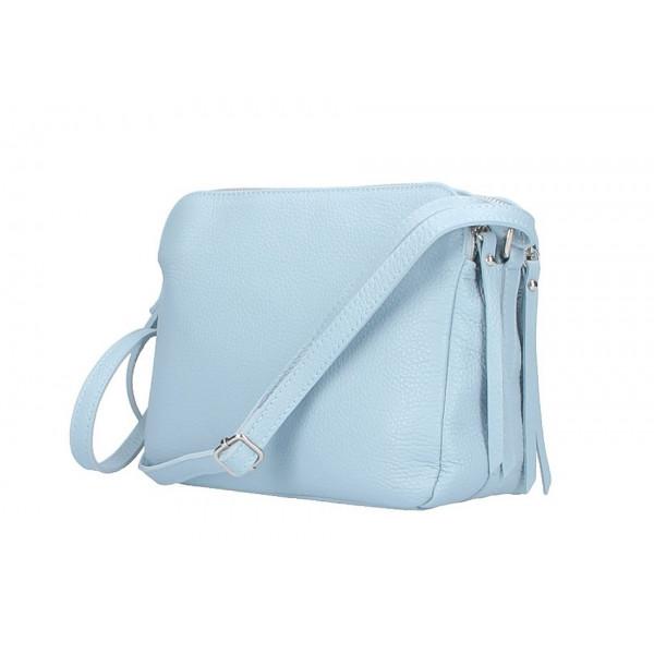 Kožená kabelka na rameno 517 nebesky modrá