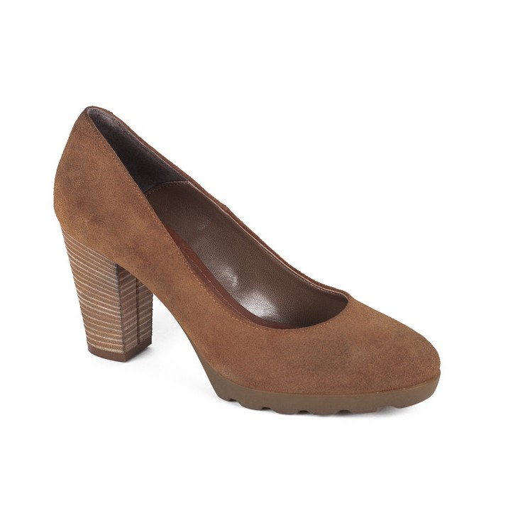 Ladies high heels 776 brown Elisa Morelli