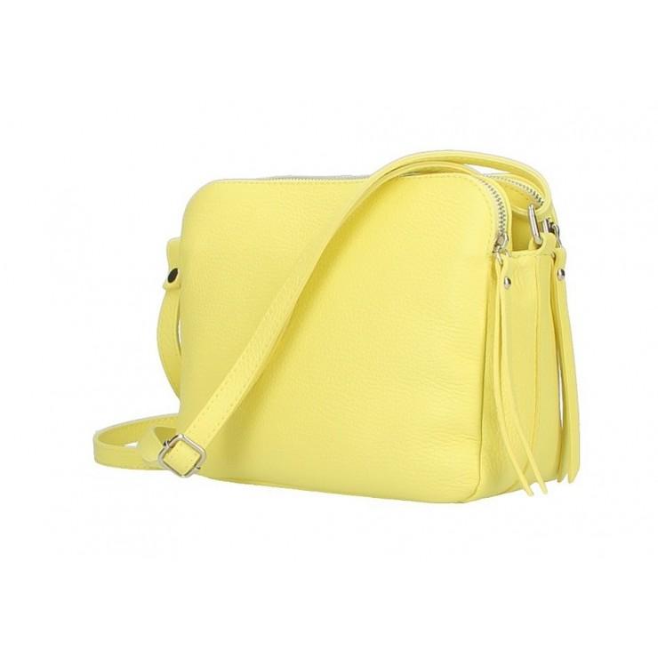 Genuine Leather Handbag 517 yellow lemon
