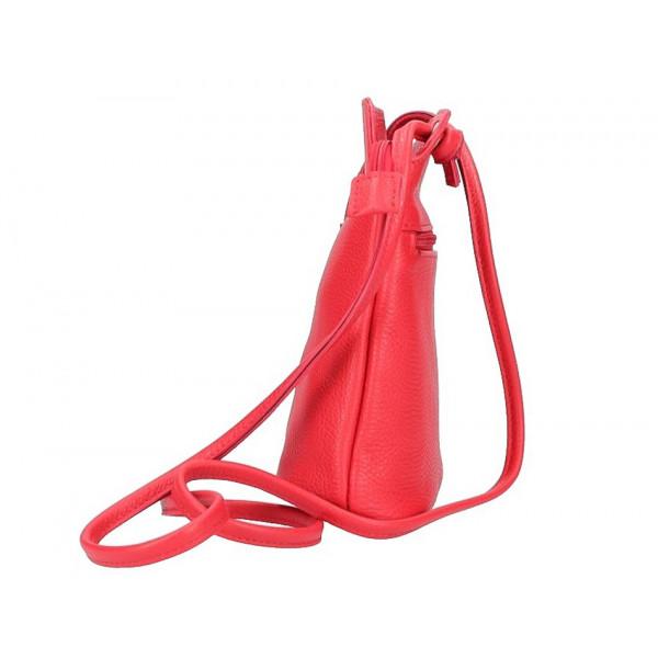 Kožená kabelka na rameno 5320 šedá