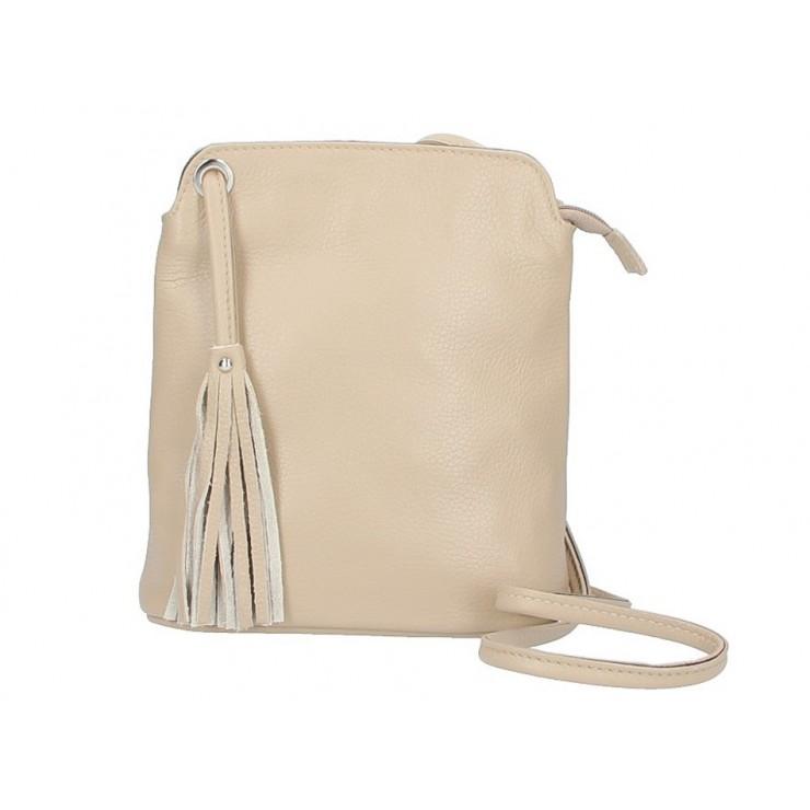 Kožená kabelka na rameno 5320 šedohnedá