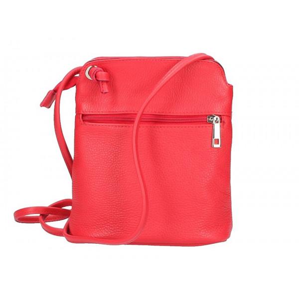 Kožená kabelka na rameno 5320 červená