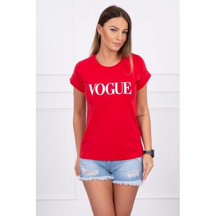 Women T-shirt VOGUE red