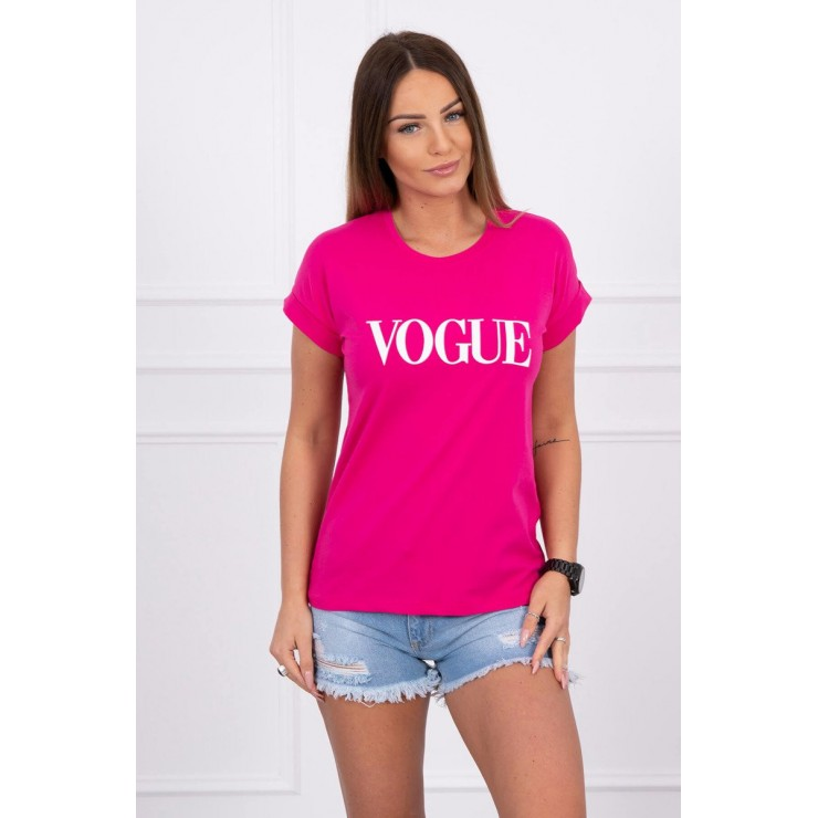 Women T-shirt VOGUE fuxia
