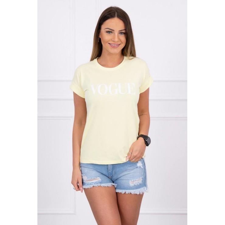 Women T-shirt VOGUE yellow