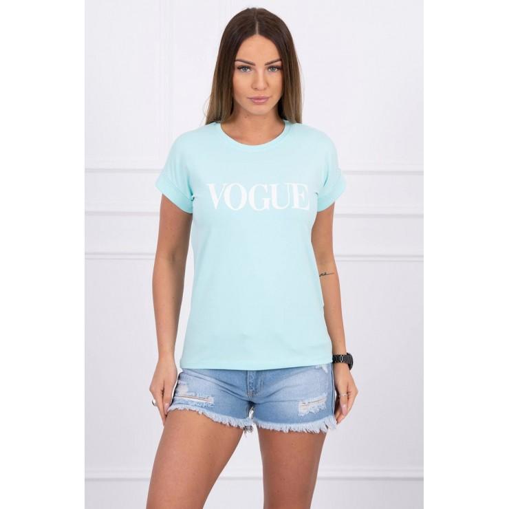 Women T-shirt VOGUE mint