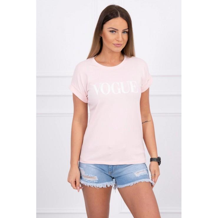 Women T-shirt VOGUE powder pink