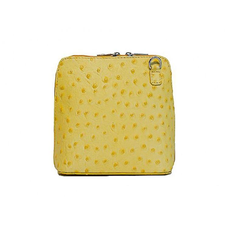 Kožená kabelka na rameno 603 žltá