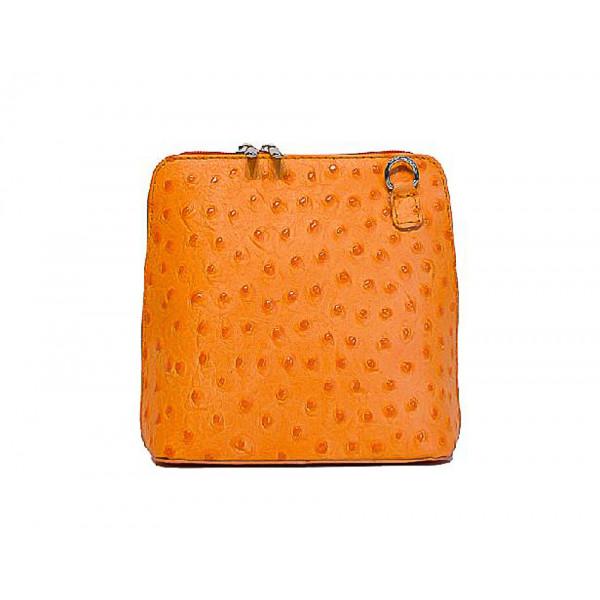 Kožená kabelka na rameno 603 oranžová