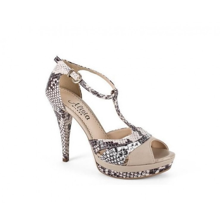 Woman high heels 647 beige Alisia Milano