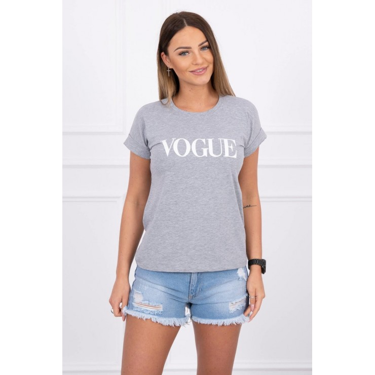 Women T-shirt VOGUE gray
