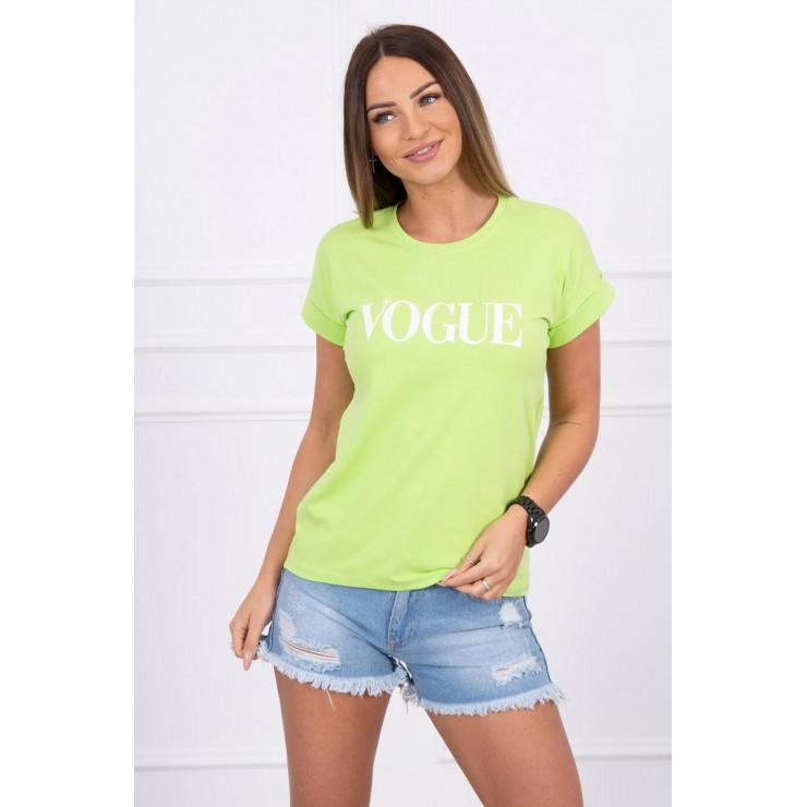 Women T-shirt VOGUE green