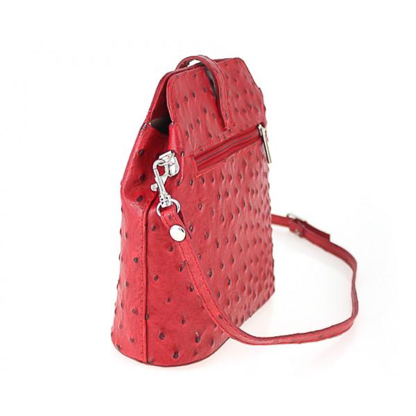 Kožená kabelka na rameno 603C béžová Made in Italy Béžová