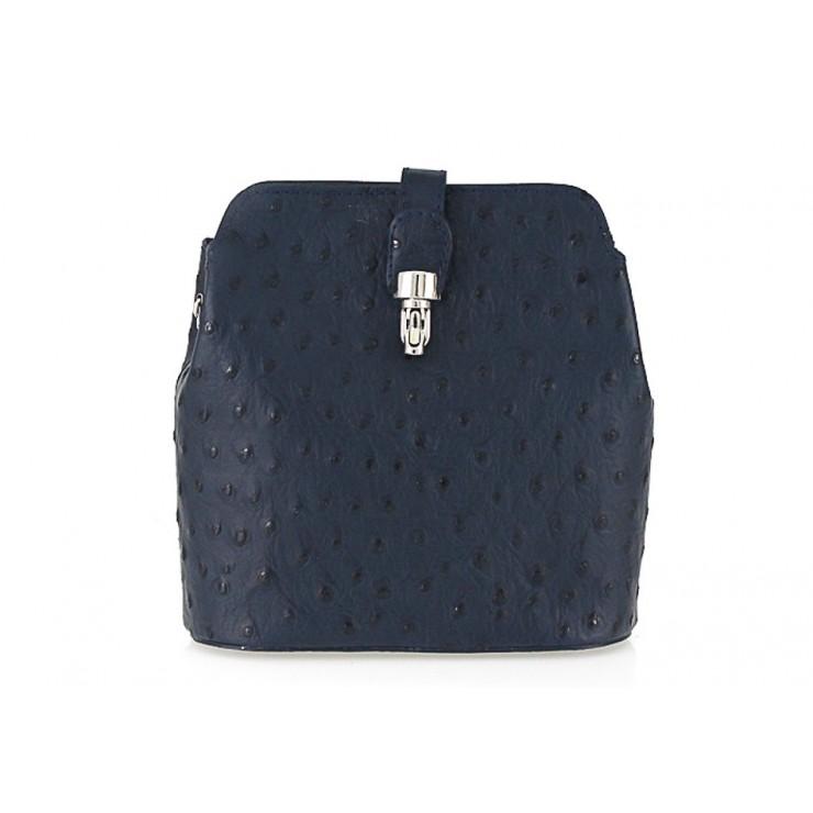 Kožená kabelka na rameno 603C modrá