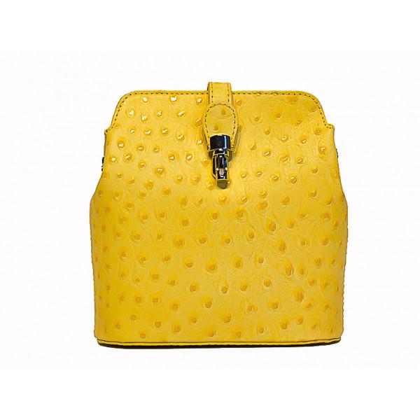 Kožená kabelka na rameno 603C žltá