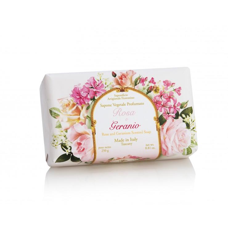 SA Firorentino Prírodné tuhé mydlo Ruža a muškát  250 g