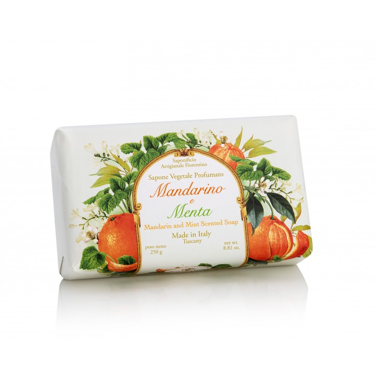 Vegetable soap mandarin and mint
