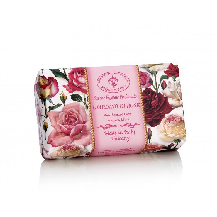 SA Firorentino Prírodné tuhé mydlo Záhrada ruží 250 g