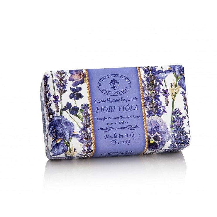 Prírodné mydlo Fialové kvety