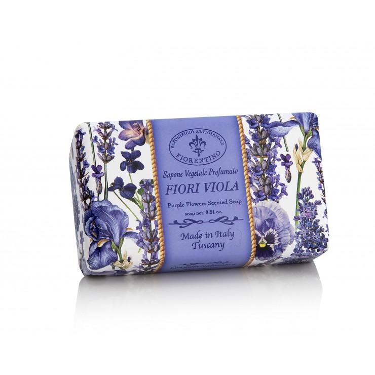 Vegetable soap Purple Flowers