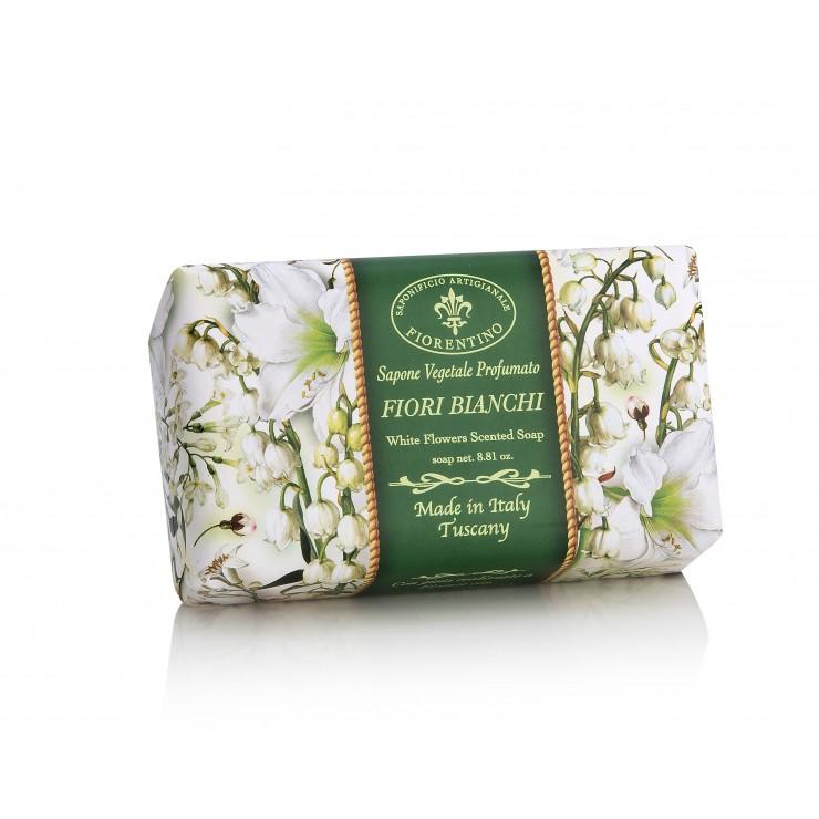 SA Fiorentino Prírodné tuhé mydlo Biele kvety 250 g