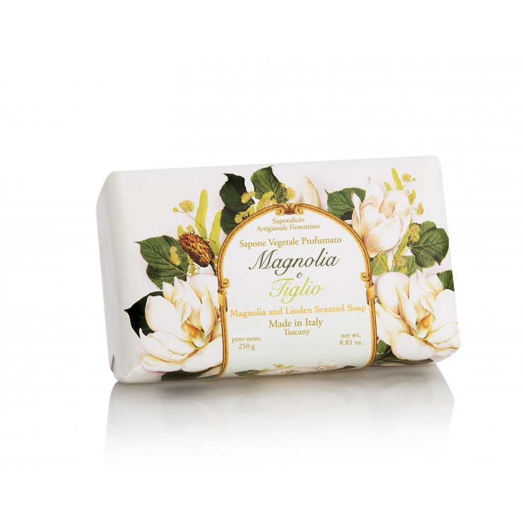 SA Fiorentino Prírodné tuhé mydlo Magnólia a lipa 250 g