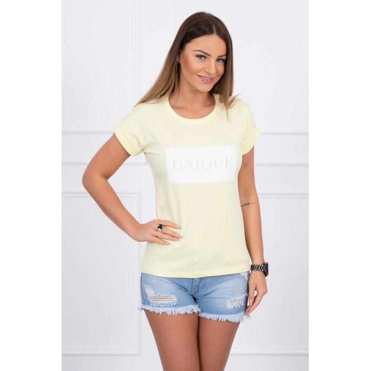 Women T-shirt UNIQUE yellow