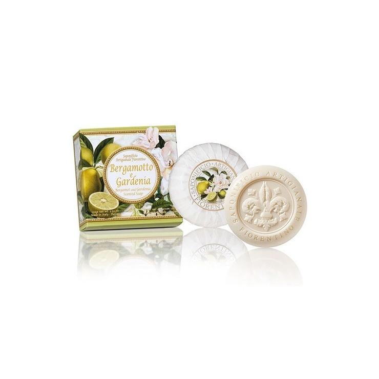 SA Fiorentino Prírodné rastlinné tuhé mydlo Bergamot a gardénia 100 g