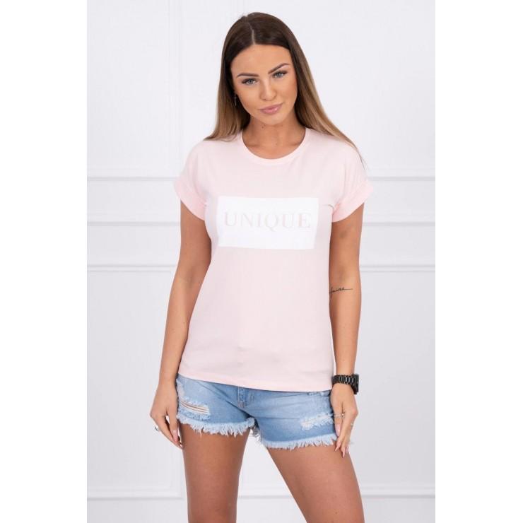 Women T-shirt UNIQUE powder pink
