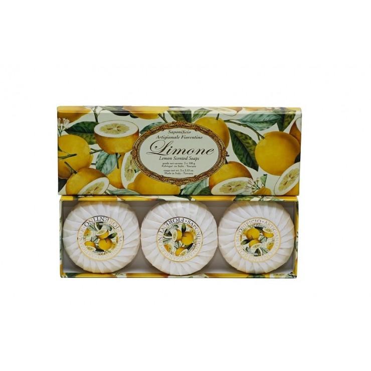 SA Fiorentino Prírodné tuhé mydlo Citrón 3 x 100 g