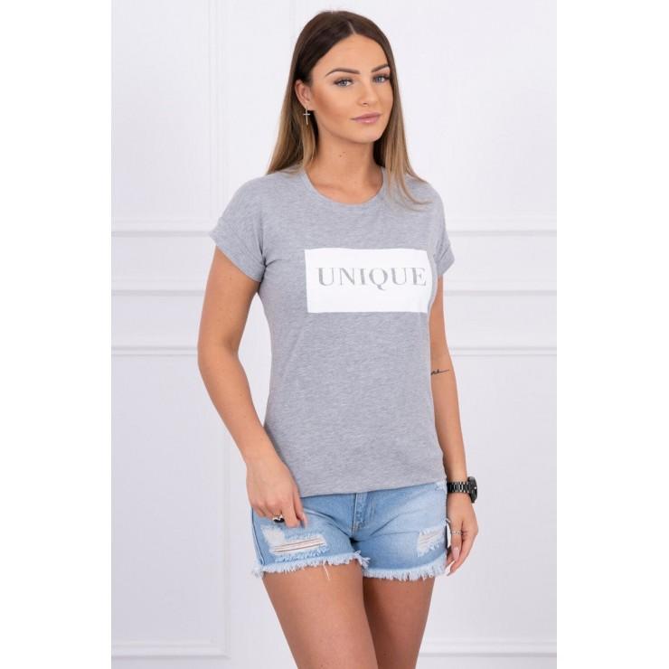 Women T-shirt UNIQUE gray
