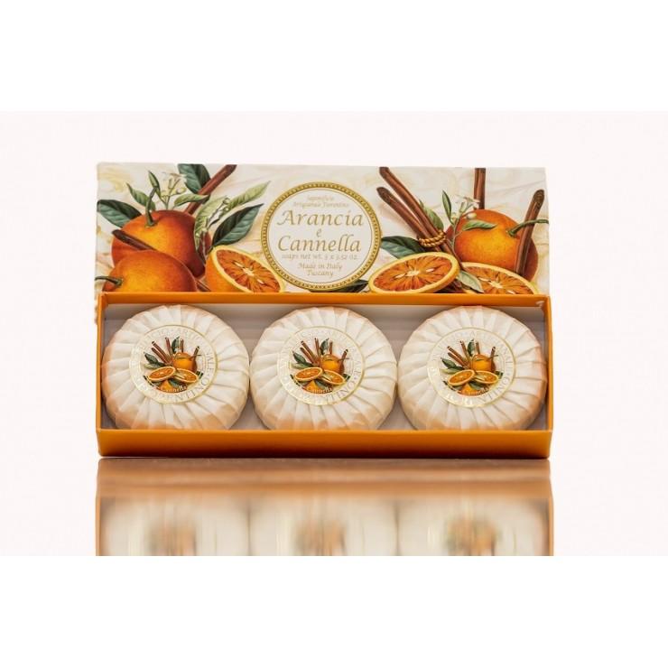 Přírodní mýdlo Pomeranč a skořice