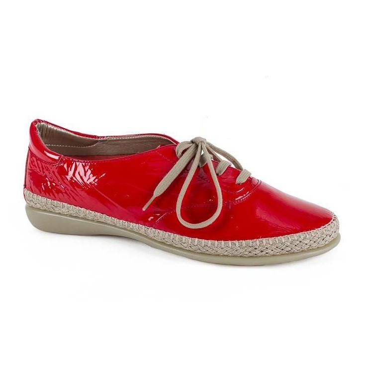 Women's leather moccasins 1120 red The Flexx
