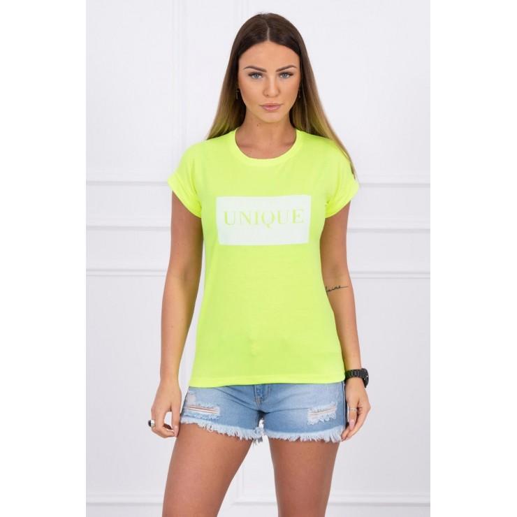 Women T-shirt UNIQUE yellow neon