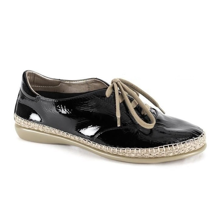 Women's leather moccasins 1120 black The Flexx