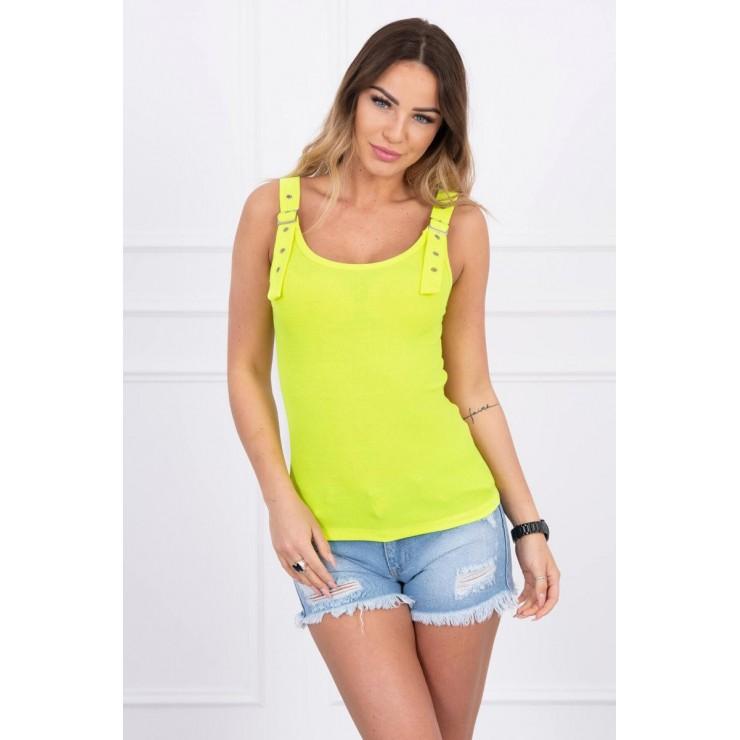 Women T-shirt MI5430 yellow neon